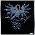 Картина из кристаллов сваровски Синяя птица малая