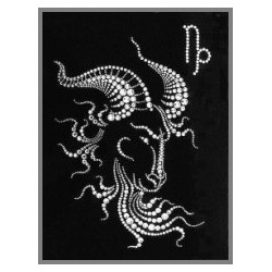 Картина из страз сваровски Знак зодиака Козерог 3 большой