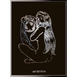 Картина из страз сваровски Знак зодиака Водолейка большой