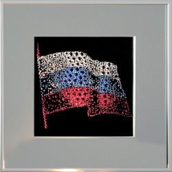 Картина из страз сваровски Флаг России с паспарту