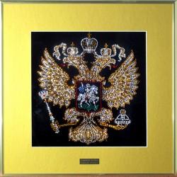 Картина из страз сваровски Герб РФ с паспарту