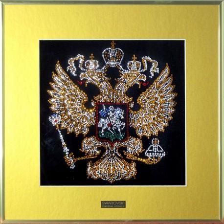 Изображение герба России с паспарту