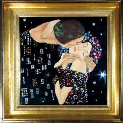 Картина из кристаллов сваровски Поцелуй по мотивам Густава Климта