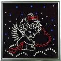 Картина из кристаллов сваровски Ангелочек с бантиком