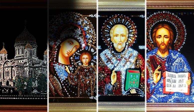 Иконы из хрусталя в подарок
